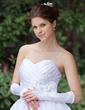 Elastic Satin Elbow Length Bridal Gloves (014026286)