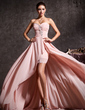A-Line/Princess Sweetheart Asymmetrical Chiffon Prom Dress With Ruffle Beading (018020814)