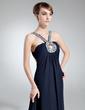 Empire V-neck Chapel Train Chiffon Mother of the Bride Dress With Ruffle Beading (008016024)
