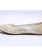 Suni deri Düz Topuk Daireler Kapalı Toe Ile Boncuklama ayakkabı (086056681)