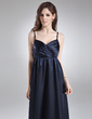 Empire V-neck Floor-Length Charmeuse Charmeuse Maternity Bridesmaid Dress With Ruffle (045004387)