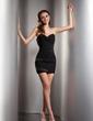 Sheath/Column Sweetheart Short/Mini Chiffon Cocktail Dress With Ruffle Beading (016020804)