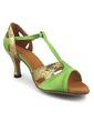 Women's Satin Sparkling Glitter Heels Sandals Latin Ballroom With T-Strap Dance Shoes (053018623)