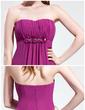 Empire Sweetheart Sweep Train Chiffon Prom Dress With Ruffle Beading Flower(s) (018025592)