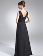 A-Line/Princess V-neck Floor-Length Chiffon Mother of the Bride Dress With Ruffle Lace (008006319)