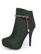 Süet İnce Topuk Ayak bileği Boots Ile Yapay elmas ayakkabı (088057312)