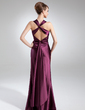 Sheath/Column Sweetheart Floor-Length Charmeuse Mother of the Bride Dress With Ruffle (008015730)