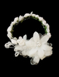 Kids Lovely Satin/Paper Flowers & Feathers/Headbands With Pearl (042026414)