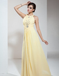 A-Line/Princess Halter Floor-Length Chiffon Prom Dress With Ruffle Beading (018020617)