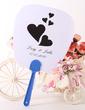 Personalized Heart design Plastic Hand Fans (118029531)