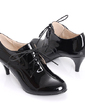 Patent Leather Kitten Heel Closed Toe Ankle Boots shoes (088020707)
