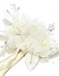 Beautiful Net Yarn/Chiffon Flowers & Feathers (042028735)