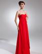 Yüksek Bel Kalp Kesimli Uzun Etekli Chiffon Nedime Elbisesi (007000994)