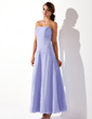 A-Line/Princess Sweetheart Ankle-Length Chiffon Bridesmaid Dress With Ruffle Beading (007001823)