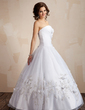 Ball-Gown Strapless Floor-Length Organza Quinceanera Dress With Embroidered Ruffle Beading Flower(s) (021004650)