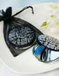 Floral Design Hard plastic Compact Mirror With Ribbons/Tag (051024339)