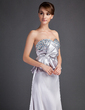 A-Line/Princess Sweetheart Court Train Charmeuse Mother of the Bride Dress With Beading Bow(s) (008015897)