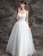 Ball-Gown Sweetheart Floor-Length Organza Wedding Dress With Ruffle Beading Appliques Lace (002024075)
