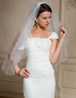 Two-tier Fingertip Bridal Veils With Cut Edge (006024470)