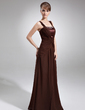 A-Line/Princess Square Neckline Floor-Length Chiffon Mother of the Bride Dress With Ruffle Beading (008016770)