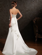 Trumpet/Mermaid Sweetheart Court Train Satin Wedding Dress With Ruffle Beading Flower(s) (002015161)