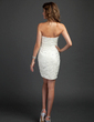 Sheath/Column Strapless Short/Mini Lace Cocktail Dress With Beading (016015332)