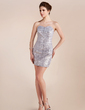 Sheath/Column Sweetheart Short/Mini Sequined Cocktail Dress (016020817)