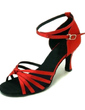 Women's Satin Sandals Latin Ballroom Dance Shoes (053008117)