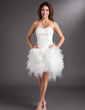 A-Line/Princess Sweetheart Asymmetrical Tulle Cocktail Dress With Appliques Lace Flower(s) (016008220)