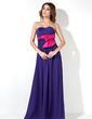 Empire Sweetheart Floor-Length Chiffon Maternity Bridesmaid Dress With Sash Bow(s) (016025854)