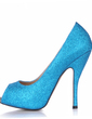 Sparkling Glitter Stiletto Heel Sandals Platform Peep Toe shoes (085015295)