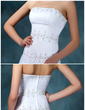 Forme Princesse Sans bretelle Traîne mi-longue Satiné Organza Robe de mariée avec Plissé Emperler Sequins (002001403)