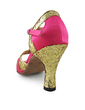 Women's Satin Sparkling Glitter Heels Sandals Latin Ballroom With T-Strap Dance Shoes (053018623)
