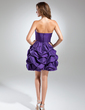 A-Line/Princess Sweetheart Short/Mini Taffeta Cocktail Dress With Ruffle Beading (016015588)