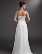A-Line/Princess Sweetheart Asymmetrical Chiffon Wedding Dress With Beading Appliques Lace (002012887)