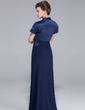 Sheath/Column One-Shoulder Floor-Length Jersey Mother of the Bride Dress With Ruffle Beading (008029101)