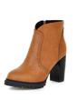 Suni deri Kalın Topuk Ayak bileği Boots ayakkabı (088056386)