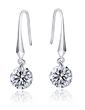 Elegant Sterling Silver/Cubic Zirconia Ladies' Earrings (011036994)