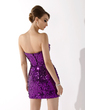 Sheath/Column Strapless Short/Mini Sequined Cocktail Dress (016020916)