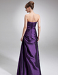 A-Line/Princess Strapless Floor-Length Taffeta Mother of the Bride Dress With Ruffle Beading (008006485)