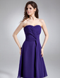 Çan/Prenses Kalp Kesimli Diz Hizası Chiffon Mezunlar Gecesi Elbisesi Ile Büzgü (022009354)