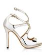 Patent Leather Stiletto Heel Sandals Platform Peep Toe shoes (087017926)