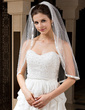 One-tier Elbow Bridal Veils With Ribbon Edge (006034329)