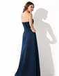 A-Line/Princess Strapless Floor-Length Satin Bridesmaid Dress With Ruffle Beading (007001806)