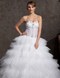 Ball-Gown Sweetheart Floor-Length Tulle Wedding Dress With Ruffle Beading (002014850)