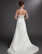 A-Line/Princess Sweetheart Court Train Lace Wedding Dress With Beading (002000178)