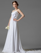 Empire Sweetheart Chapel Train Chiffon Wedding Dress With Ruffle Lace Beading Flower(s) (002004001)