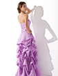 A-Line/Princess Strapless Floor-Length Satin Bridesmaid Dress With Ruffle Beading (007001818)