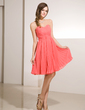 Empire Sweetheart Knee-Length Chiffon Homecoming Dress With Beading Pleated (022014232)