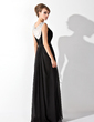 A-Line/Princess Scoop Neck Floor-Length Chiffon Evening Dress With Ruffle Beading (017020923)